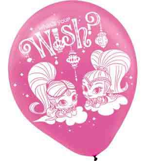 Shimmer and Shine Balloon Latex 12in 6ct