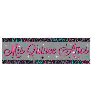 Mis Quince Anos Giant Banner Sign