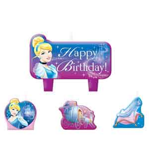 Cinderella Mini Molded Cake Candle