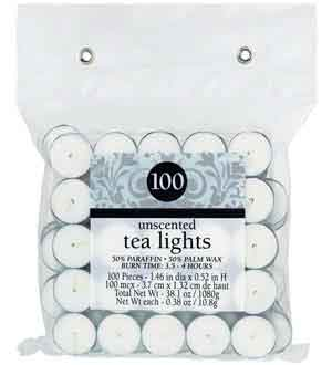 Candles Tealights - Unscented