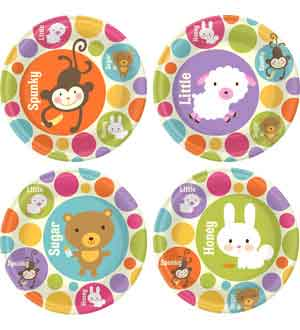 Baby Animal Dots Plate (L) 8 Ct ~ 1DPL3613
