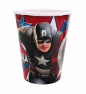 Captain America Cup 9oz 8ct