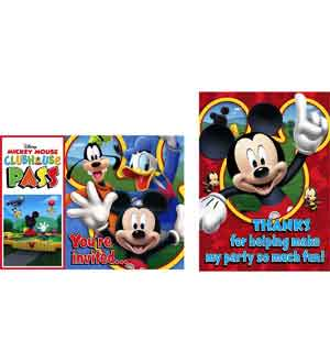 Mickey Playtime Invitiation and Thank Y