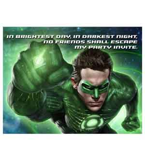 Green Lantern Invite 8ct