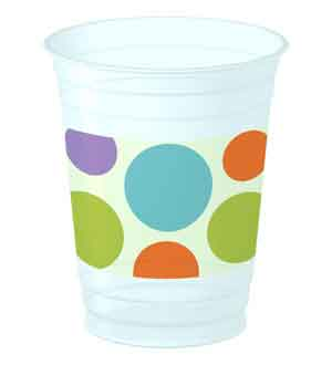 Baby Animal Dots 14-Oz Cups ~ 1PCU3613