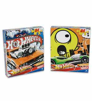 Hot Wheels Puzzle 24pc Assrtd