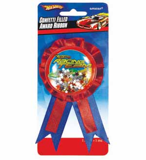 Hot Wheel Confetti Pouch Award Ribbon