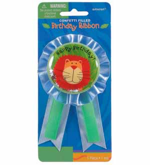 Jungle Animals Confetti Award Ribbon