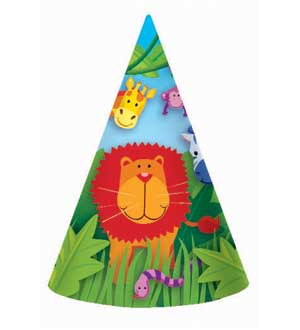 Jungle Animals Hats 8ct