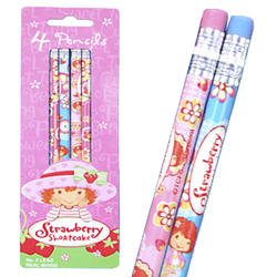 Strawberry Pencil 4ct