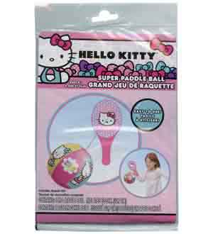 Hello Kitty Inflatable Ball Paddle