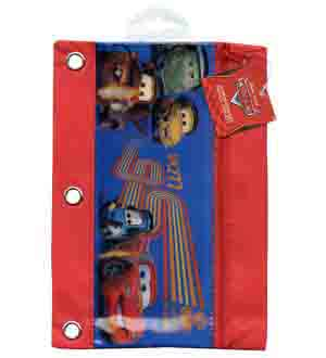Cars 2 3 Ring Pencil Pouch