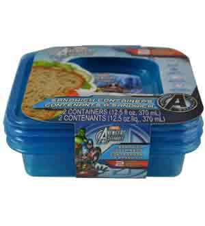 Avengers Bread Box 12.5oz 2ct 5.5x5.5x2