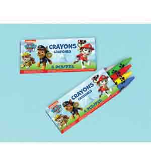 Paw Partrol Packaged Crayons 12ct