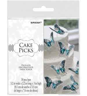 Bridal Butterfly Cake Picks