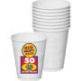 White Plastic Cup 16oz 50ct