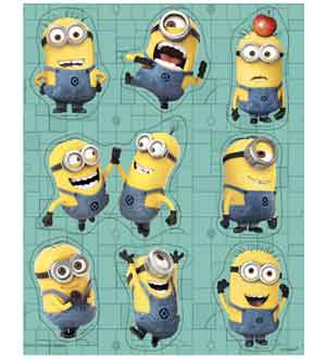 Despicable Me 2 Sticker Sheets 4 Ct