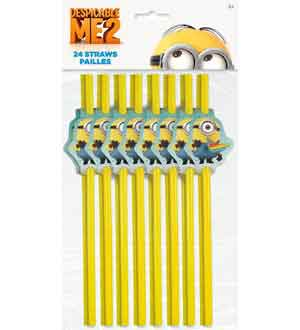 Despicable Me 2 Party Straws 24 Ct