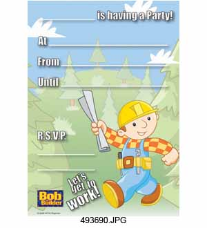Bob The Builder Invitation 20ct