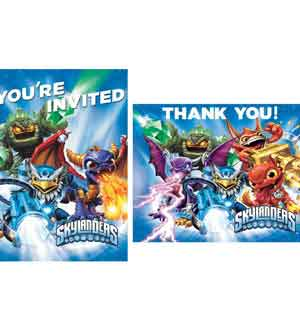 Skylander Invitation Thank You Notes 8