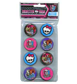 Monster High Round Sharpeners 8 Pk