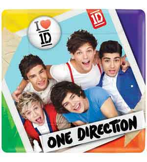 One Direction Plate (S) 8ct