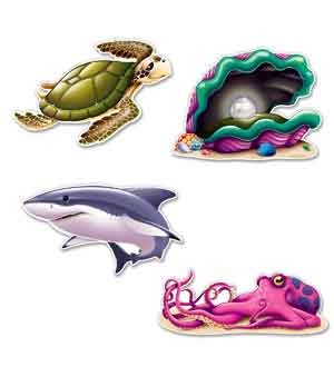 Luau Sea Creature Cutouts