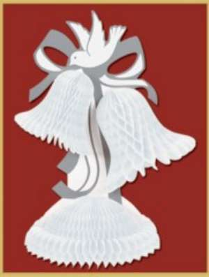 Bell Centerpiece Tissue 12 in
