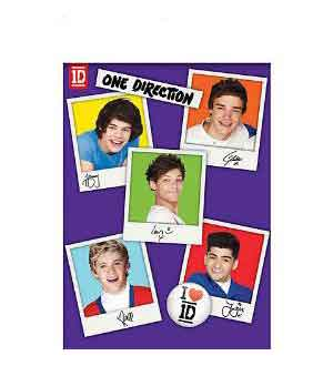 One Direction Tablecover 54x96 Plastic