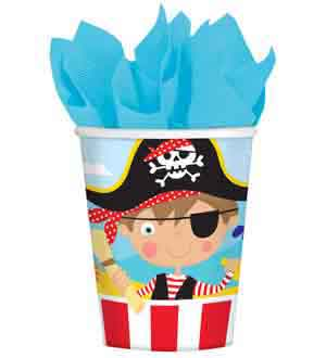 Little Pirate Cup 9oz 8ct