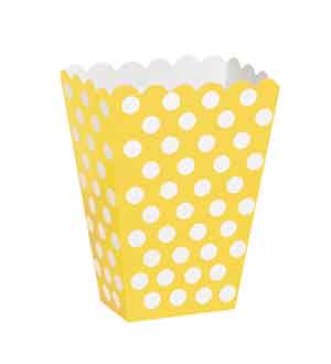 Sunflower Yellow Dots Treat Boxes 8ct