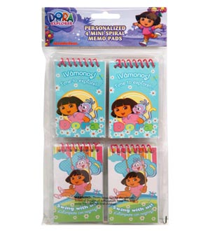 Dora Spiral Mini Notepad 4ct