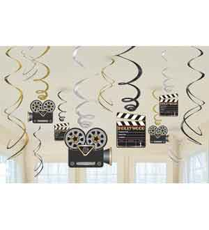 Lights Camera Action Swirl Deco Value Pa