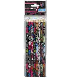 Monster High Colored Wood Pencils 8 Pk