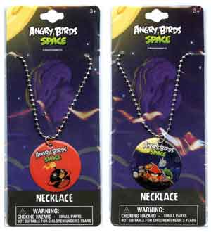 Angry Birds Space Round Metal Dogtag