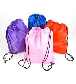 Nylon Backpack Solid Colors 15x13