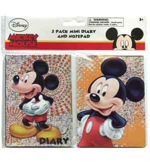 Mickey Mini Diary and Note Pad Set