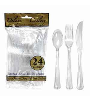 Combo Cutlery HD - Clear 24 ct