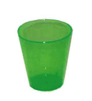 Neon Green Shot Glass 2oz 50ct