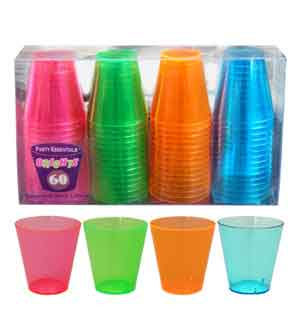 Neon Shot Glass 2oz 60ct