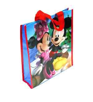 Mickey and Minnie Woven Pp Tote Bag (M)