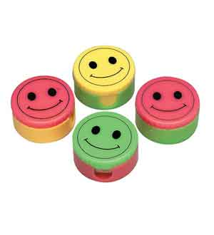 Pencil Sharpener Smiley 1.5in 12ct