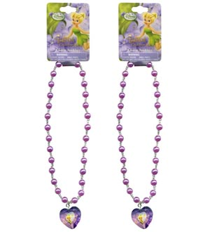 Tinkerbell Pearl Necklace 16in W-Gem